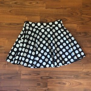 Forever 21 polka dot skirt size small